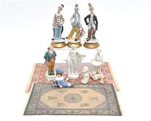 Dollhouse Rugs & Bisque Figures