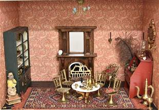 Furnished Living Room Box Dollhouse