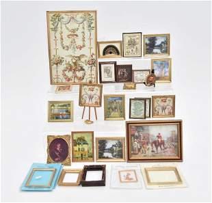 Large Assortment Of Dollhouse Prints & Frames