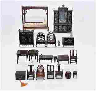 Chinese Style Dollhouse Miniature Furniture