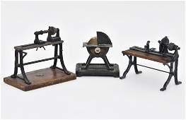 Three Antique Steam Driven Shop Tools