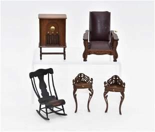 Assorted Artisan Dollhouse Miniature Furniture