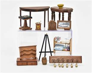 Small Wood Dollhouse Accessories