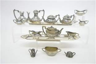 English Dollhouse Sterling Tea Set Miniatures