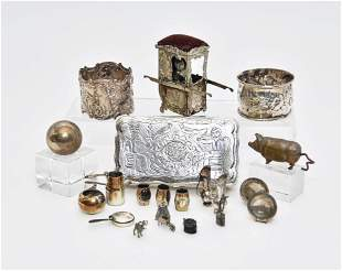 Dollhouse Silver & Silver-Plate Accessories
