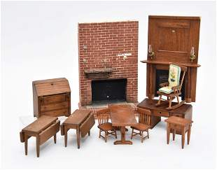 Dollhouse Fireplaces & Toncoss Furniture