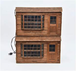 Two Small Room Box Store Dollhouses