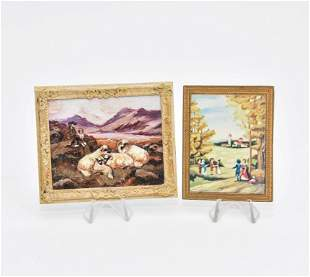 Betty Spice Shepherd & Ship Painting Miniature