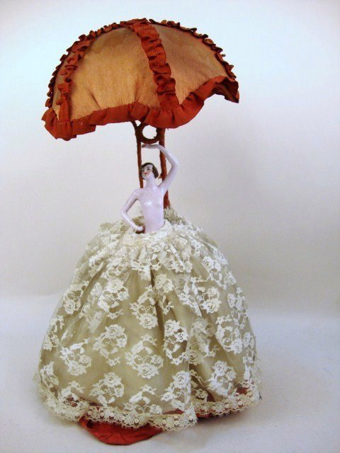 Porcelain Half-Doll Lamp