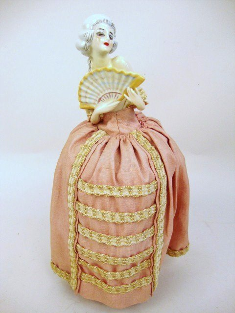 Porcelain Half-Doll Powder-Box