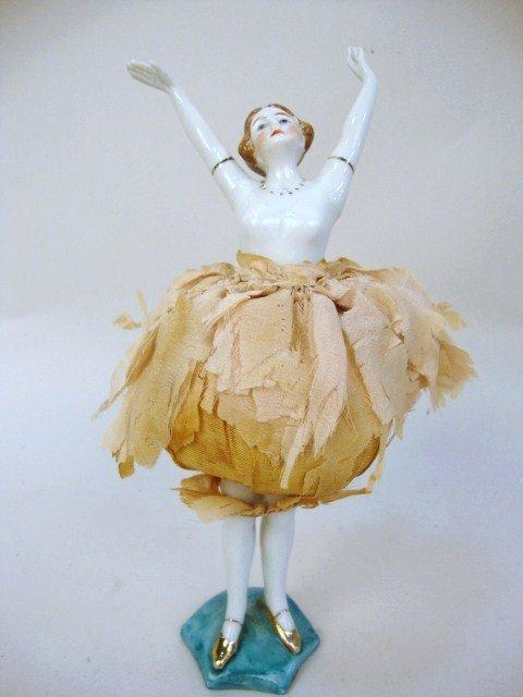 Porcelain German Ballerina on Stand