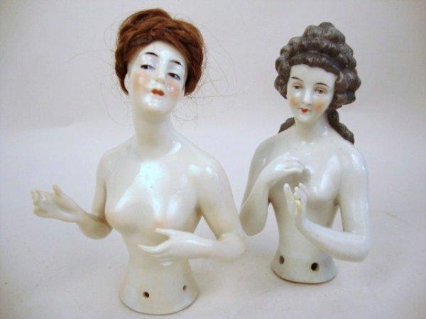 Dressel Kister Porcelain Half Dolls