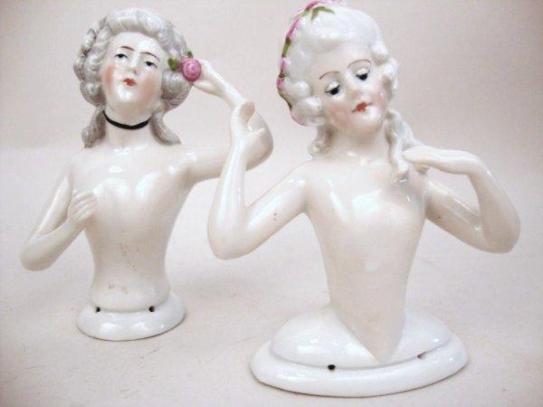German Porcelain Half Doll