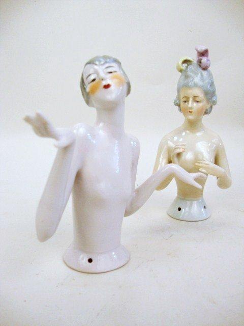 Flapper Porcelain Half Doll