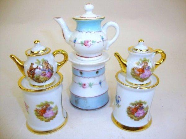 Miniature Teapots on Base