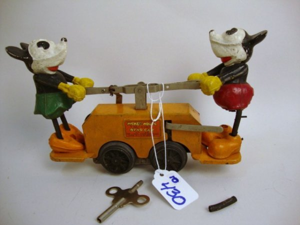 Lionel Mickey Mouse Hand Car in OB