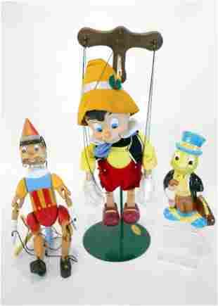 Pinocchio Marionette's & Jimmy Cricket Figure
