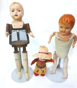 Three Composition Dolls