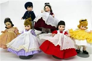Six Madame Alexander Dolls Little Woman