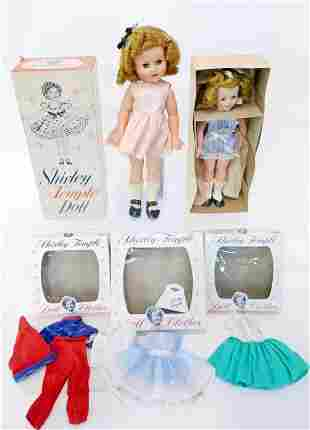Shirley Temple Dolls one in original box and Doll