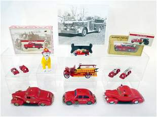 Fire Trucks and Cars, Dog and Picture