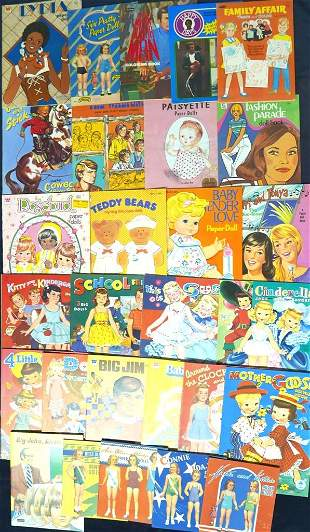 Approx 25 Paper Dolls most older