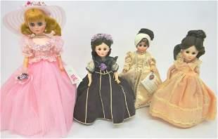 Four Madame Alexander Dolls First Ladies