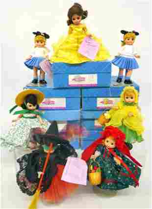 Seven Madame Alexander Dolls in original boxes