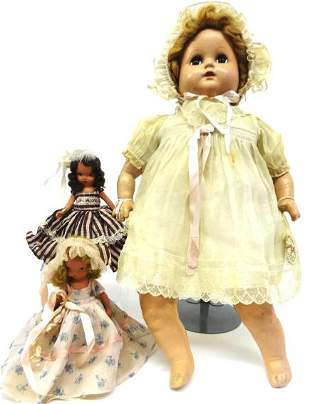 Large Ideal Composition and two Storoyobook Dolls