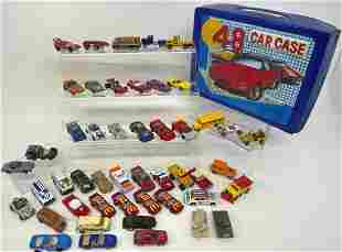 Large Lot of Die Cast Cars Hot Wheels, Matchboxes, and
