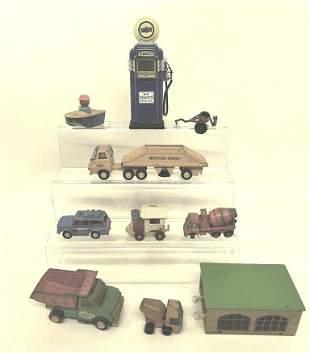 Vintage Car & Trucks & Gas pump