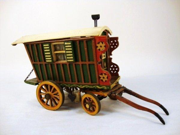 41: Miniature Painted Gypsy Wagon