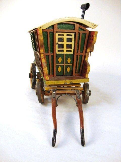 41: Miniature Painted Gypsy Wagon - 2