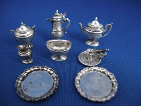 468: Peter Aquisto Sterling Tea Set and Other Pieces
