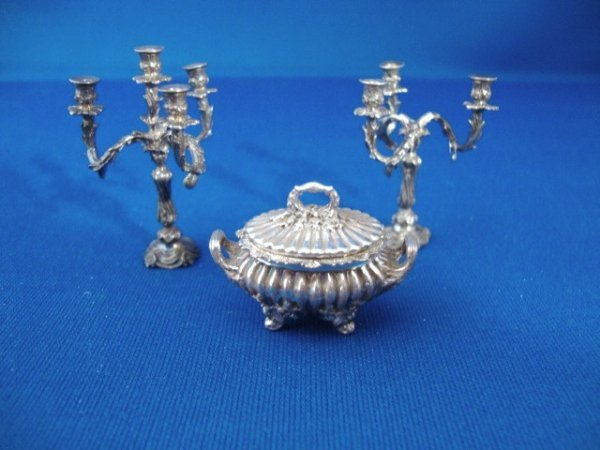 471: Harry Smith Vegetable Dish and Candelabras