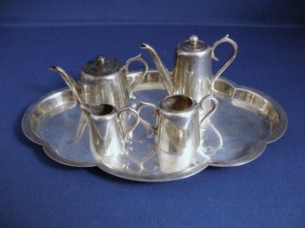 485: Sheffield Five Piece Tea and Coffee Set