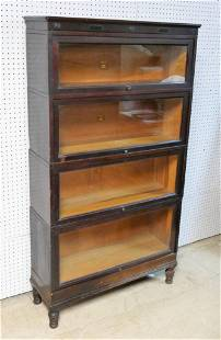 Antique Macey Four Section Barrister Bookcase