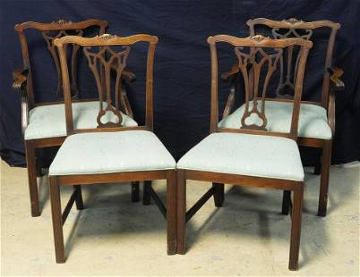 Four Vintage Kittinger Style Dining Room Chairs