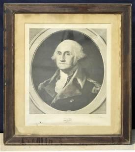 Large 1881 George Washington Engraving