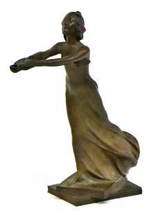 Bronze Art Nouveau Style Statue