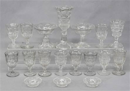 Antique Flint Glass Goblets & Accessories