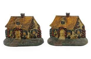 Antique Hubley Figural Cottage Door Stoppers