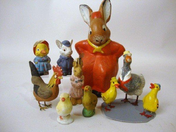 22: Composition Rabbit , Chicks, Ducks