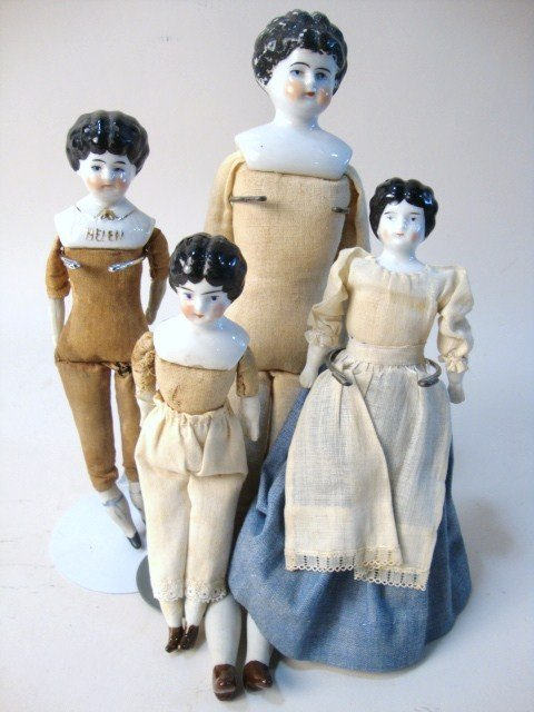 18: Lot of Four China Head Dolls