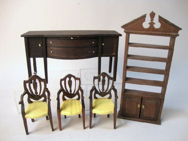 23: Tynietoy Sideboard, Bookcase, Chairs