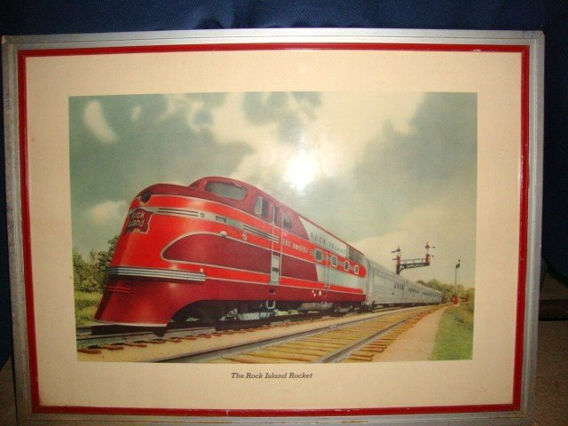 5: Advertising  Wall Poster Railroad