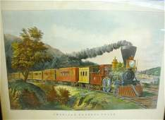 48 Currier  Ives Lithograph American Express Train