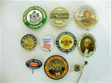 128: Railroad Pin Back Buttons