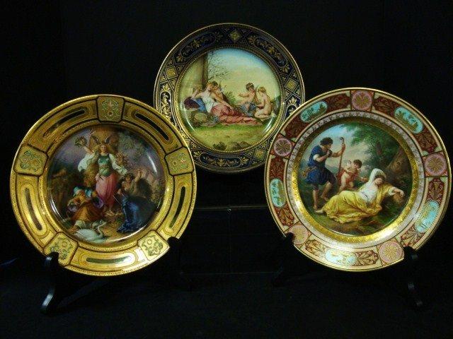 801: Three Royal Vienna Portrait Plates