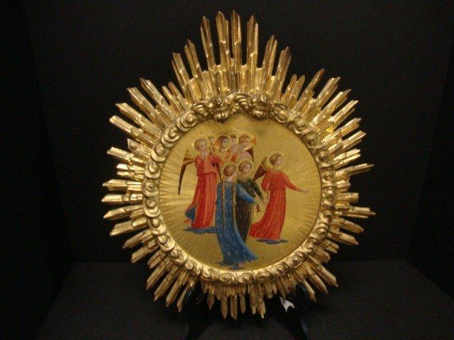 804: Round Gold Gilded  Icon